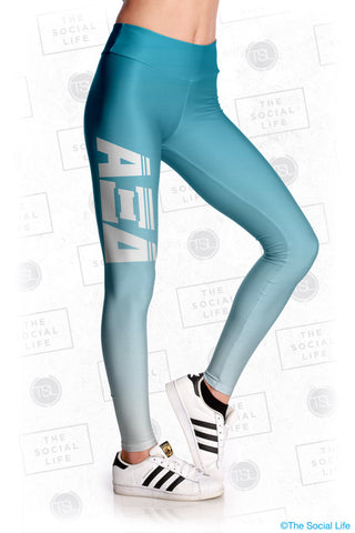 Alpha Xi Delta Fade Leggings