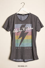 Alpha Xi Delta RainBolt Scoop Tee