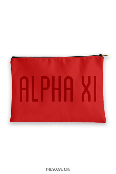 Alpha Xi Delta Primary Cosmetic Pouch