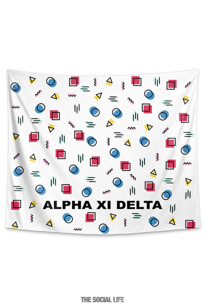Alpha Xi Delta Squigglies Tapestry