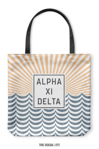 Alpha Xi Delta Sunshine Tote Bag