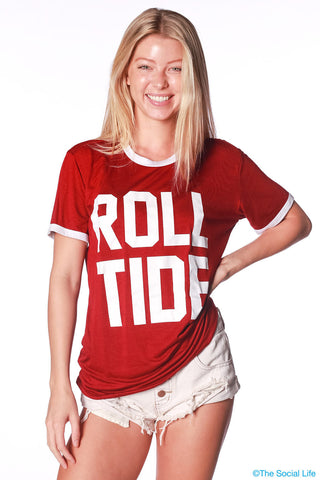 Alabama Relaxed Ringer Tee