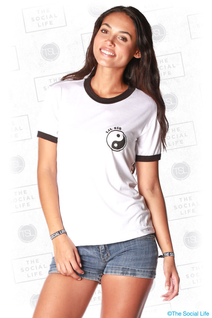 Lil Sis Yin Yang Relaxed Ringer Tee