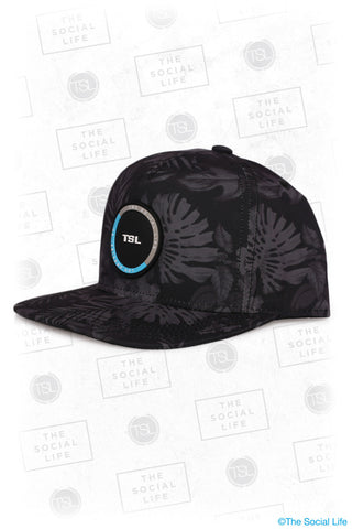 TSL - Premium Black Hawaiian Hat