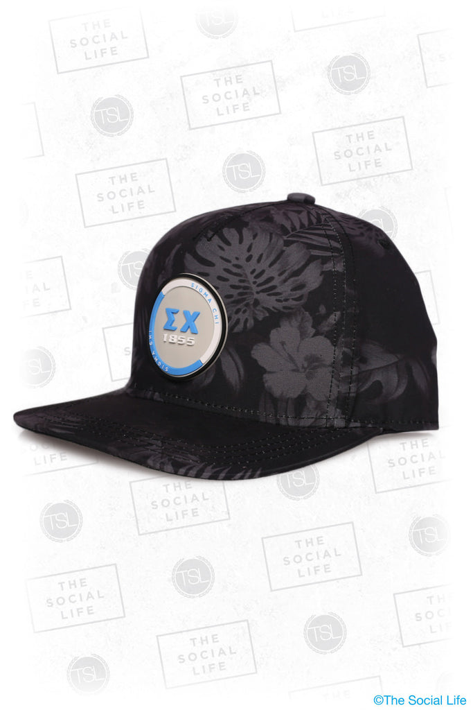 Sigma Chi - Premium Black Hawaiian Hat