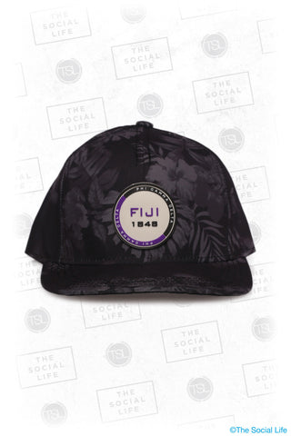 Fiji - Premium Black Hawaiian Hat