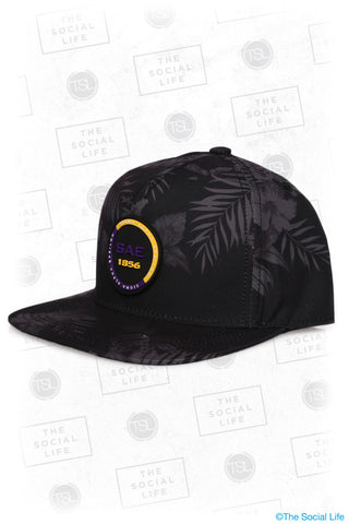 SAE - Premium Black Hawaiian Hat