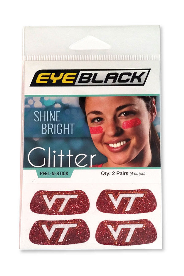 Virginia Tech Glitter Eye Black