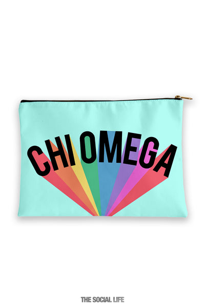 Chi Omega Colorblast Cosmetic Bag
