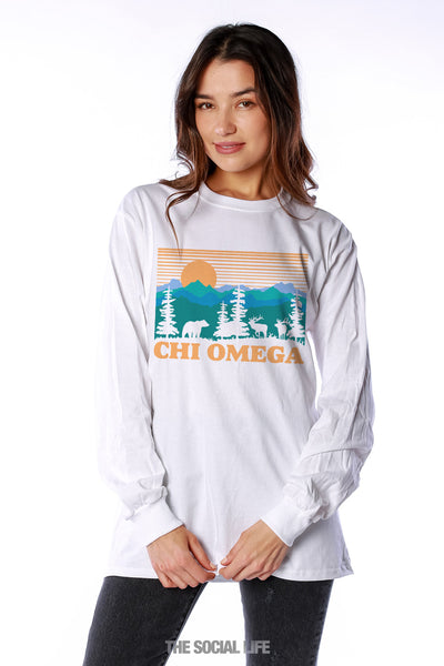 Chi Omega Deer Valley Long Sleeve