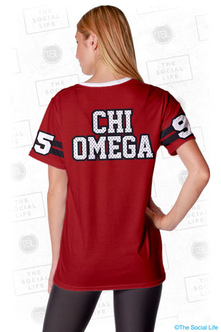 Chi Omega Established Jersey Tee