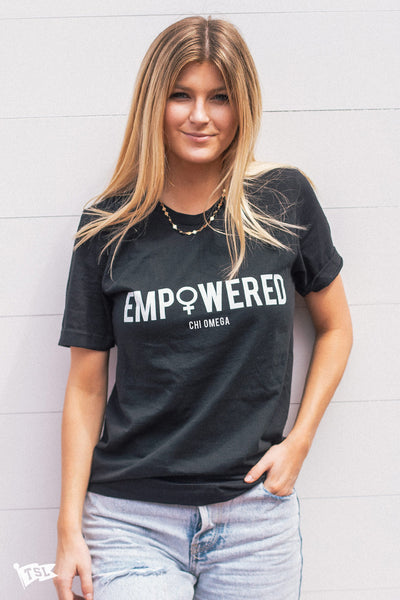 Chi Omega Empowered Tee