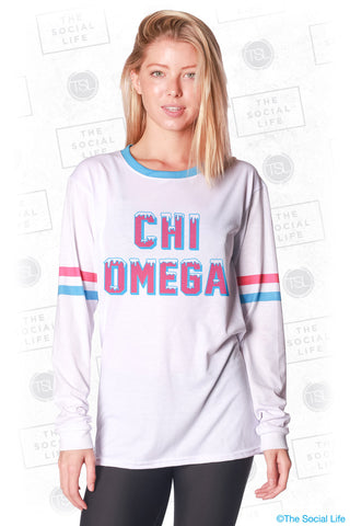 Chi Omega Frosted Long Sleeve