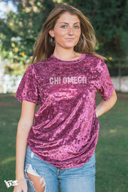 Chi Omega Hollywood Velvet Tee