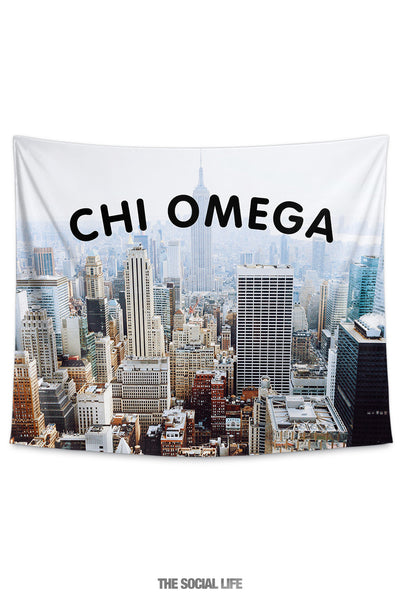 Chi Omega NYC Tapestry