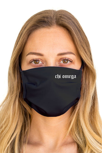 Chi Omega OG Mask (Anti-Microbial)