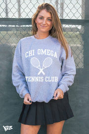 Chi Omega Tennis Club Crewneck