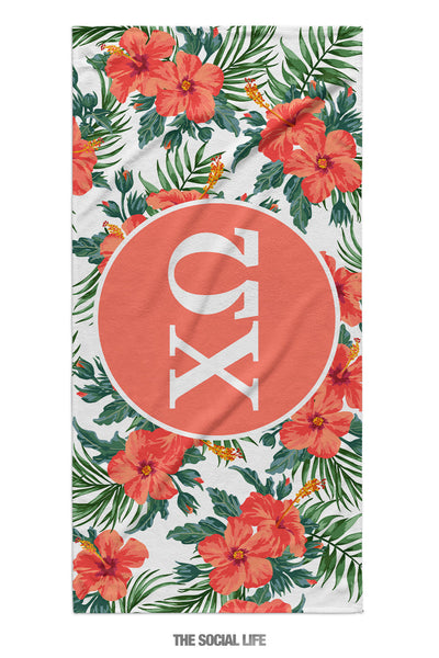 Chi Omega Tropic Towel