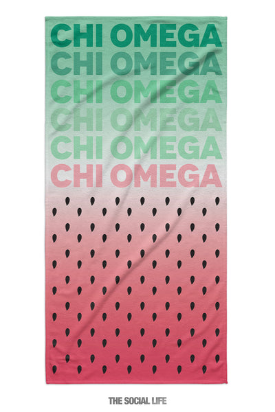 Chi Omega Watermelon Towel