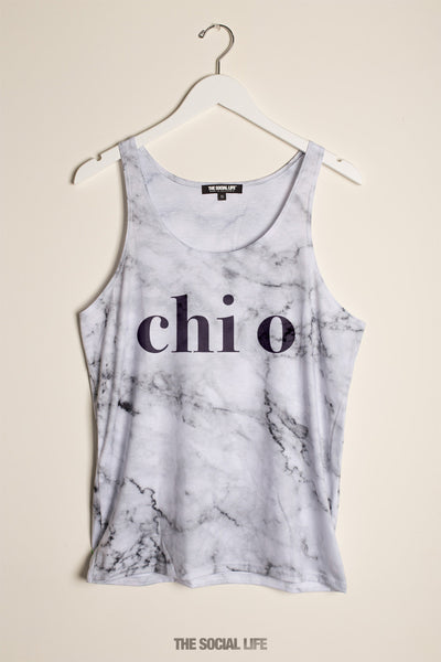 Chi Omega Marble Tank