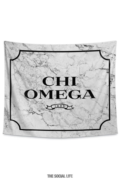 Chi Omega Milano Marble Tapestry