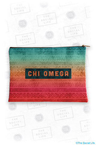 Chi Omega Tribal Cosmetic Bag