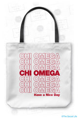 Chi Omega Thank You Tote Bag