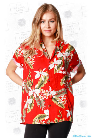 Chi Omega Hawaiian Shirt