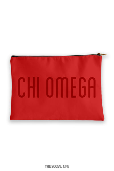 Chi Omega Primary Cosmetic Pouch