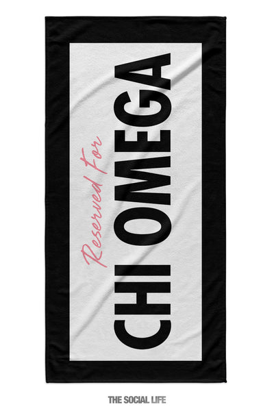 Chi Omega Reserved Towel