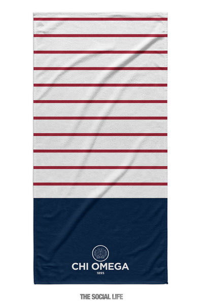 Chi Omega Sailor Striped Towel
