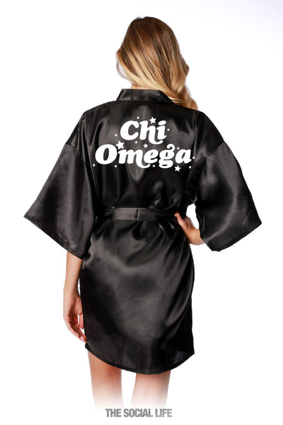Chi Omega Stardust Silky Robe