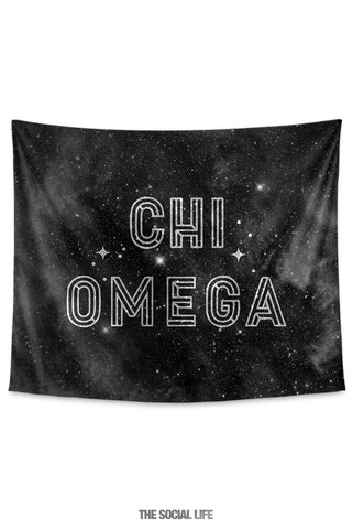 Chi Omega Twinkle Tapestry