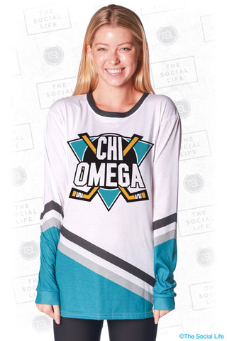 Chi Omega Mighty Hockey Long Sleeve