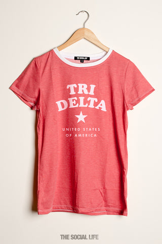 Delta Delta Delta All-Star Boyfriend Tee