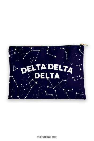 Delta Delta Delta Constellation Cosmetic Bag