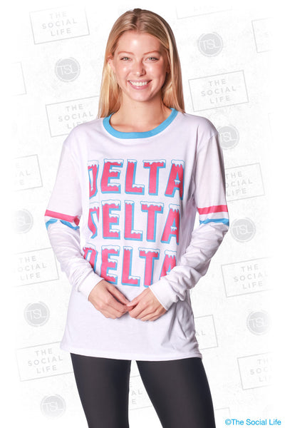 Delta Delta Delta Frosted Long Sleeve