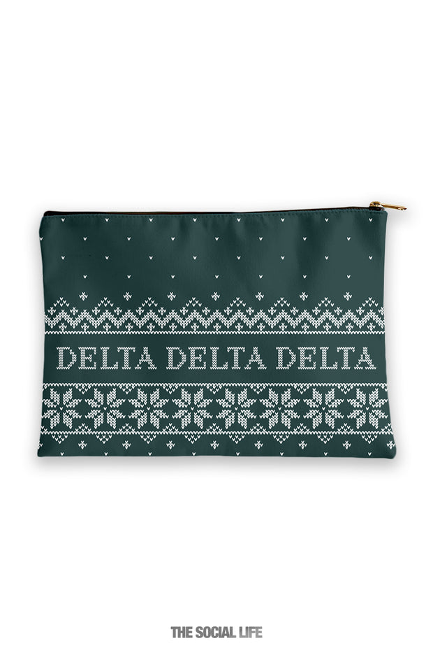 Delta Delta Delta Holiday Cosmetic Bag