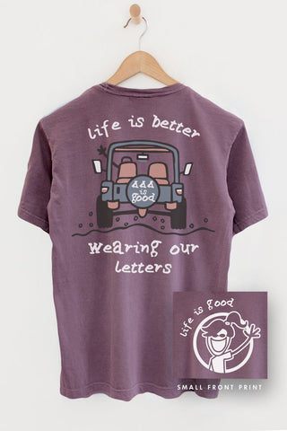 Tri Delta Life is Good Pocket Tee