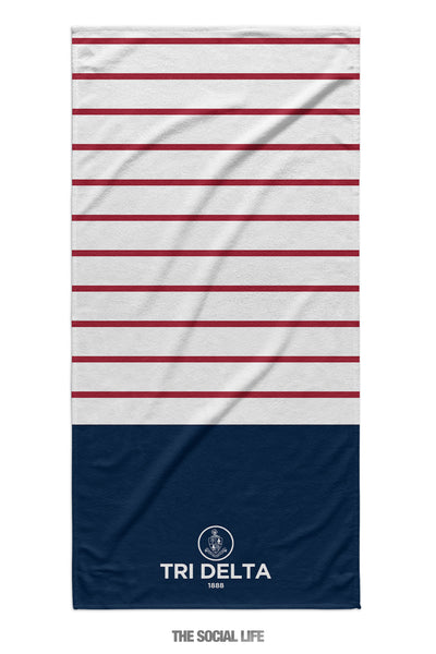 Delta Delta Delta Sailor Striped Towel