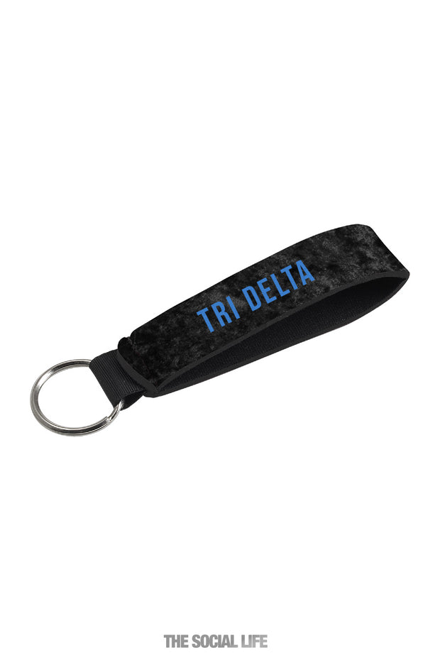 Delta Delta Delta Black Velvet Key Holder