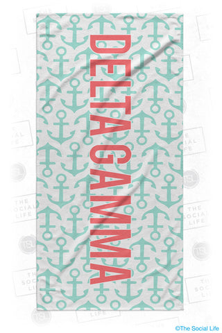 Delta Gamma Anchor Beach Towel