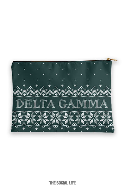 Delta Gamma Holiday Cosmetic Bag