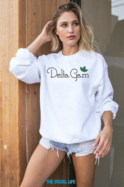 Delta Gamma Holly Crewneck