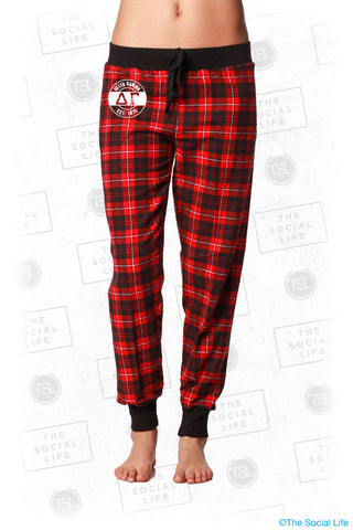 Delta Gamma Plaid Lounge Jogger
