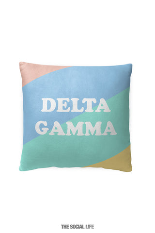 Delta Gamma Pastel Colorblock Pillow