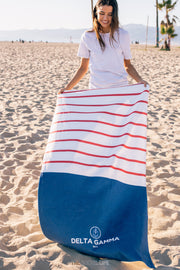 Delta Gamma Sailor Striped Towel