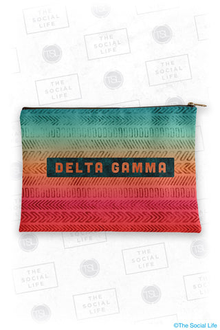 Delta Gamma Tribal Cosmetic Bag
