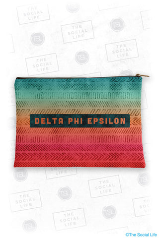 Delta Phi Epsilon Tribal Cosmetic Bag