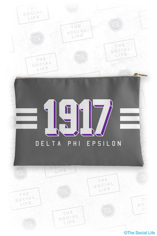 Delta Phi Epsilon Varsity Cosmetic Bag